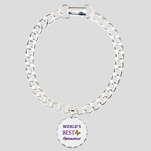 Worlds Best Optometrist (Butterfly) Charm Bracelet