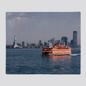 (14) Staten Island Ferry Throw Blanket