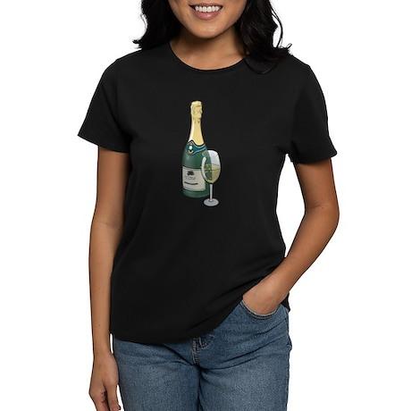 Champagne Bottle Women's Dark T-Shirt