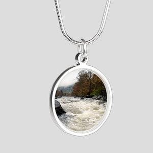 Zoar Gap Silver Round Necklace