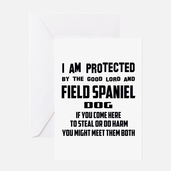 I am protected by the good lord and Greeting Card
