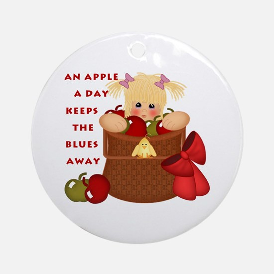 Apple a Day Ornament (Round)