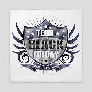 Team black Friday Shield_dark Queen Duvet
