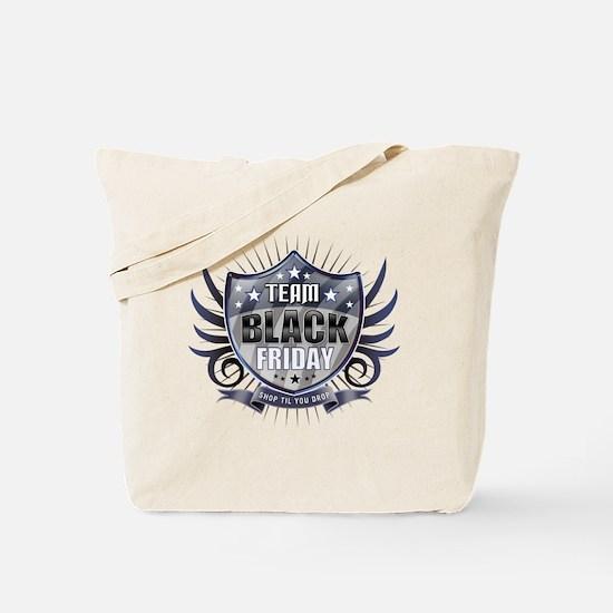 Team black Friday Shield_dark Tote Bag