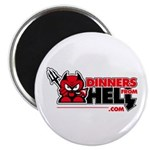 """Dinners From Hell 2.25"""" Magnets"""