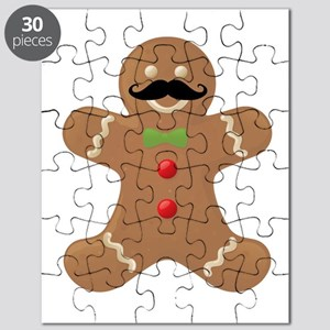 Gingerbread Mustache Man Puzzle