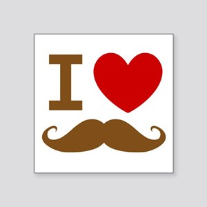 I Love Mustache Sticker