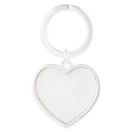 Shrimping White Heart Keychain