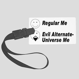 Alt Universe Me Black Large Luggage Tag