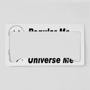 Alt Universe Me Black License Plate Holder