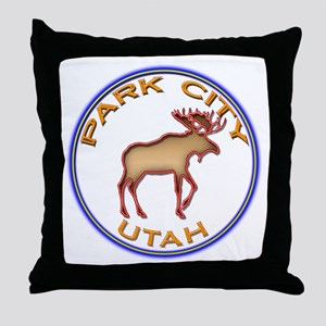 NeonMooseCircleSeriesMulticolorsNewTr Throw Pillow