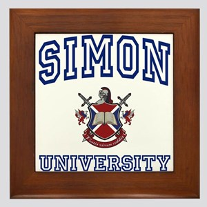 SIMON University Framed Tile