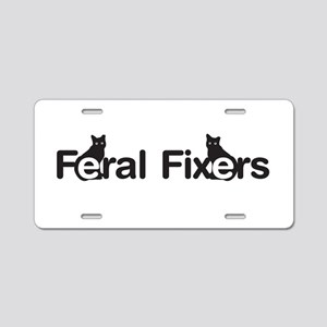 Oval FF patch Aluminum License Plate