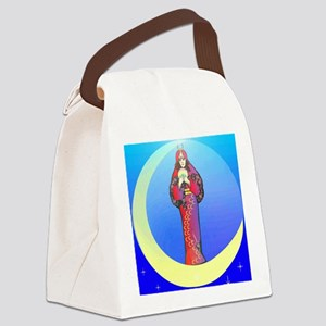 Moon Lady Art Square Canvas Lunch Bag