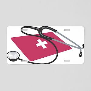 Stethoscope Aluminum License Plate