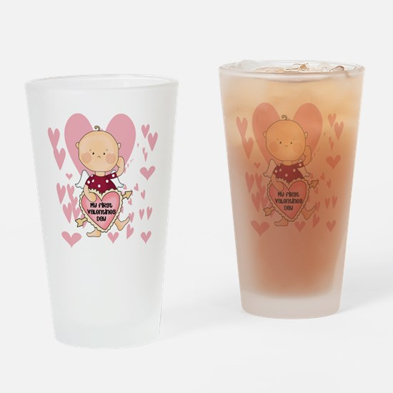 HEARTSFIRSTVALDAY Drinking Glass