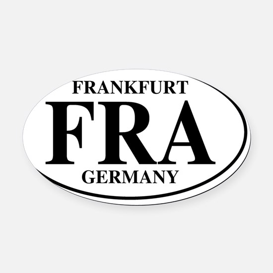 FRAFrankfurt Oval Car Magnet