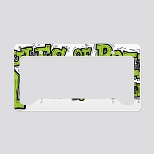 rules_of_the_road_green License Plate Holder