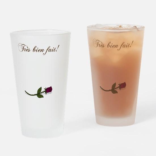 Tres bien fait Rose Drinking Glass