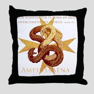 amphisbaenaInkCP Throw Pillow