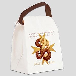 amphisbaenaInkCP Canvas Lunch Bag