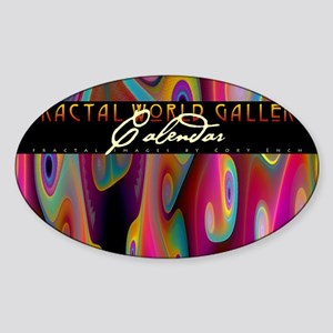 fractal calendar cover Sticker (Oval)