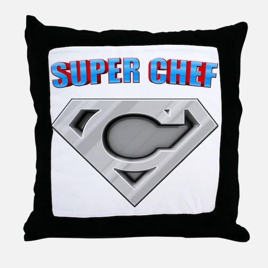 3-Super_chef Throw Pillow