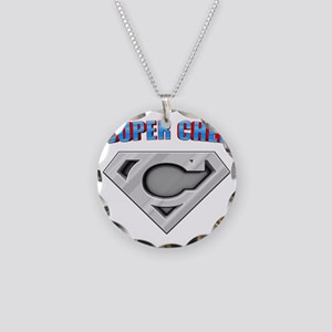 3-Super_chef Necklace Circle Charm