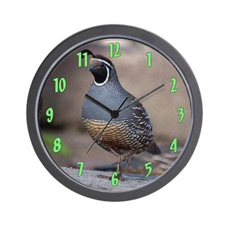 quaillargewallclock Wall Clock