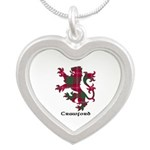 Lion - Crawford Silver Heart Necklace