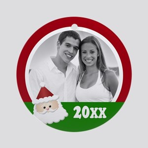 1st Christmas Photo Ornament (Round)