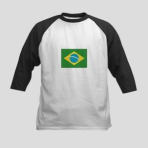 Brazil Flag Kids Baseball Jersey