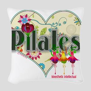 pilates kinesthetic intellectu Woven Throw Pillow