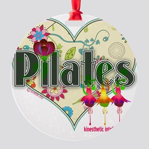 pilates kinesthetic intellectual fa Round Ornament