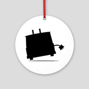 ToasterSilhouette Round Ornament