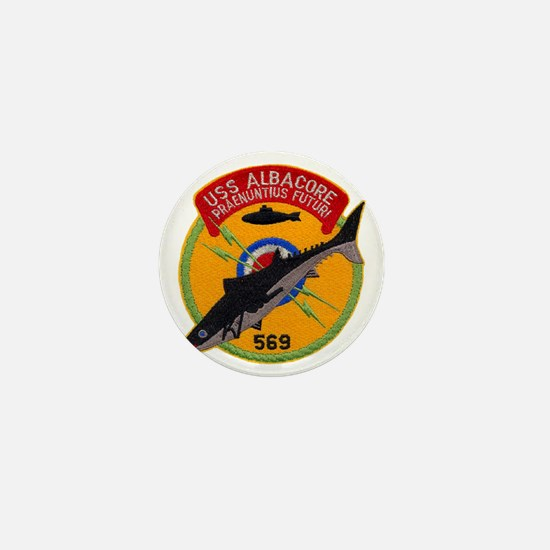 albacore patch transparent Mini Button