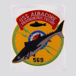 albacore patch transparent Throw Blanket