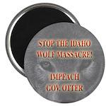 Stop the wolf massacre Magnet
