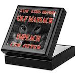Stop the wolf massacre Keepsake Box