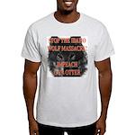Stop the wolf massacre Ash Grey T-Shirt