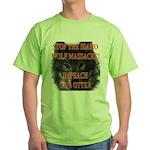 Stop the wolf massacre Green T-Shirt