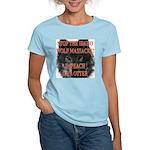 Stop the wolf massacre Women's Pink T-Shirt