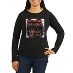 Stop the wolf massacre Women's Long Sleeve Dark T-