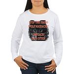 Stop the wolf massacre Women's Long Sleeve T-Shirt