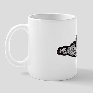 albacore white letters Mug