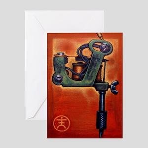 Red Machine Greeting Card