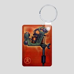 Red Machine Aluminum Photo Keychain