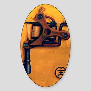 Yellow Machine Sticker (Oval)