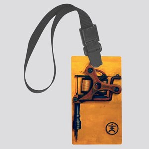 Yellow Machine Large Luggage Tag