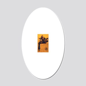 Yellow Machine 20x12 Oval Wall Decal